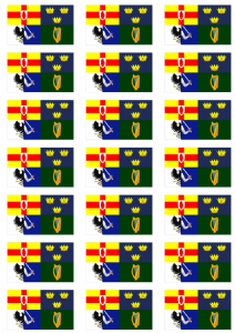 Ireland 4 Provinces Flag Stickers - 21 per sheet
